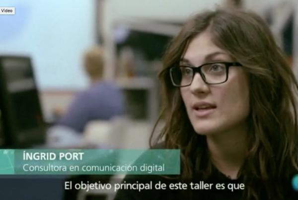 Ingrid Port pel programa Personas mayores y redes sociales